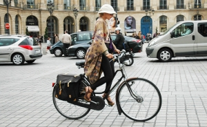 Fashionable ride through Paris