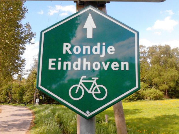 Eindhoven Bike Route Sign
