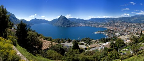 A wide-angle view of Lugano.